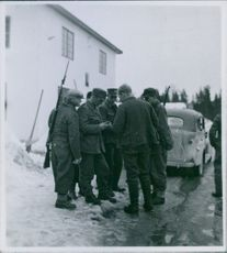 Finnish soldiers during the Norwegian Campaign.