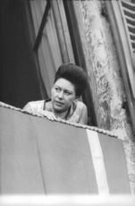 Princess Margaret looking out of a window.