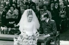 Princess Margriet during her wedding with Pieter van Vollenhoven.