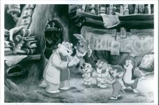 """A scene from the animated film """"Once Upon A Forest"""" 1993"""