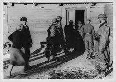 Soldiers entering the room, 1941.