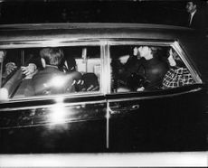 """Robert Francis """"Bobby"""" Kennedy in vehicle."""