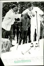 Bjarne Andersson in the World Cup in skiing