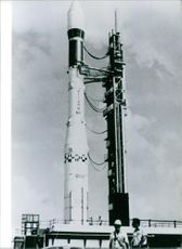 Europe's Ariane Rocket on the Launching Pad 1981