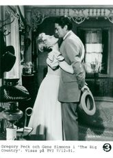 """Gregory Peck and Jean Simmons in """"The Big Country"""""""