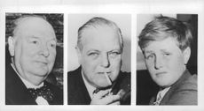 Collage of Churchill's family.
