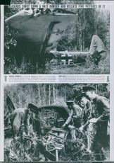 Russians shoot down a German bomber. 1942 German Junker mammoth convicted of Russian air defense in northwest Moscow