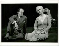 "The actors Peter Stormare and Kicki Bramberg in ""Long Day Trip to Night"" at Dramaten"