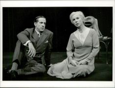 """The actors Peter Stormare and Kicki Bramberg in """"Long Day Trip to Night"""" at Dramaten"""