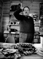 The author Jan Myrdal in his home in Mariefred