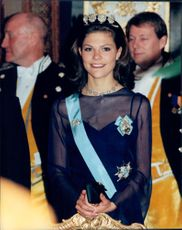 Crown Princess Victoria at the gala dinner of Russian President Poris Yeltsin