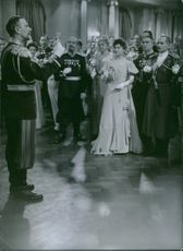"""A scene from the film """"Johan Ulfstjerna"""", with Edvin Adolphson as Governor General, 1936."""