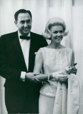 Doris Day pictured with her husband Martin Melcher.