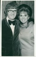 Writer Leslie Bricusse: with his wife Yvonne Romaine