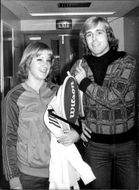 The tennis players Chris Evert and John LLoyd