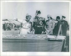 The Governor-General and lady Mountbatten with Lieutenant-General. 1948