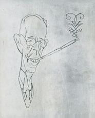 Caricature of King Gustaf V