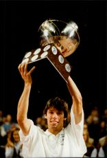 Portrait image of Michael Stich taken in connection with his winning Stockholm Open 1993.
