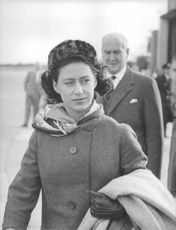 Princess Margaret walking.