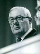 The British Prime Minister and leader of the Labour Party, James Callaghan. 1978.