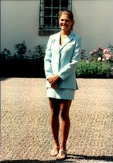 Crown Princess Victoria during the celebration of her 21st birthday at Solliden.