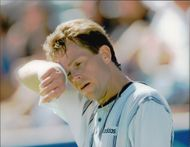 Stefan Edberg during the Australia Open.