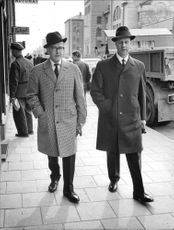 """The directors Stone Hagardt and Bertil Odén on the way to the conference """"Pedestrian 64 - Pedestrian 67""""."""