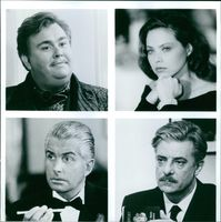 John Candy, Ornella Muti, Giancarlo Giannini and George Hamilton in Once Upon a Crime.