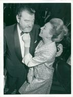 Jack Hawkins with his wife at the premiere