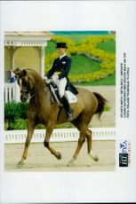 Louise Nathorst and her Walk on Top held their nerves in control of the dressage momentum.