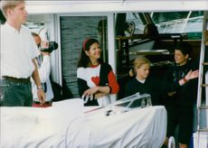 King family aboard a yacht