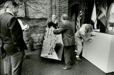 The unveiling of the memory plate of the Stockholm Olympiad's sovereign Jim Thorpe.