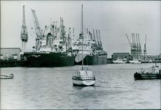 A view of Walvis Bay. 1978.