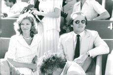 Marie-Hélène de Rothschild and actor Jack Nicholson at the finals in French Open
