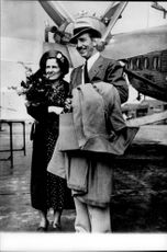 Walt Disney with his wife Lillian Marie Bounds.