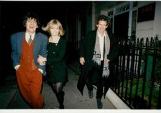 Keith Richards together with Ronnie Wood with wife