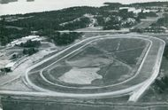Aerial view of the racing track in Täby