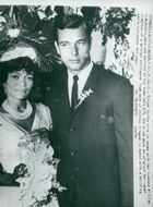 Eartha Kitts wedding day. Her husband William McDonald
