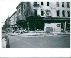 A photograph of Newak, New Jersey after the riots. Civil Rights Demonstration.  Taken - July 1967