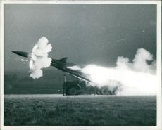 Honest John Missile fired over salisbury plain.