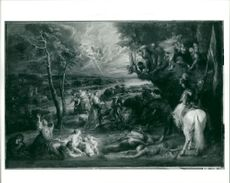 Sir Peter Paul Rubens: landscape with saint george and the dragon.