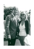 Simon MacCorkindale and his wife Susan George at the Cannes Film Festival