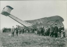 history pctures of the first transatlantic flight.