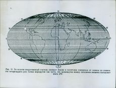 An illustration of earth and map. 1958