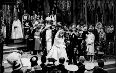 Prince Andrew and Sarah Ferguson's wedding in Westminster Abbey