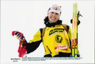 Magdalena Forsberg leads the world cup in shooting.