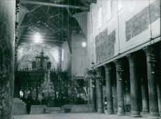 The interior of Church of the Nativity.