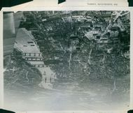 Air picture of London's bomb damage.
