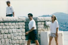 Sylvester Stallone and Jennifer Flavin in Corsica