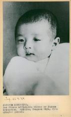 Crown Prince Akihito, four months old, the first official photo